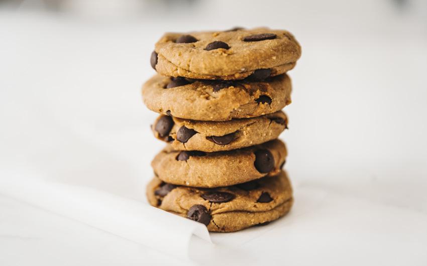 Cookies americano com pepitas de chocolate de 72% de cacau