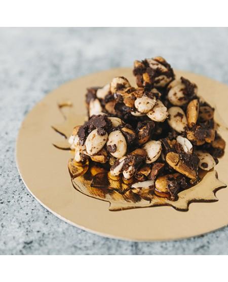 Bites de Chocolate e Caramelo de Coco Salgado